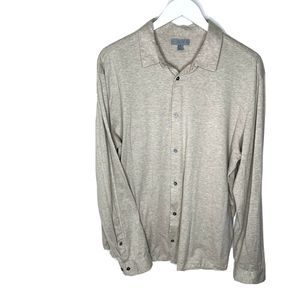 COS Jersey Cotton Soft Button Down Shirt
